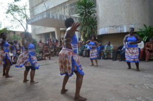 Project1808 is welcomed by Sierra Leone's National dance group