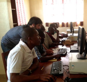 Project1808 Teachers and Mentors learn computer skills during Computer Literacy Class