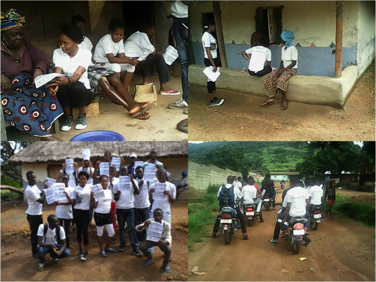 Project1808 Youth Organize to sensitize community on the Ebola virus