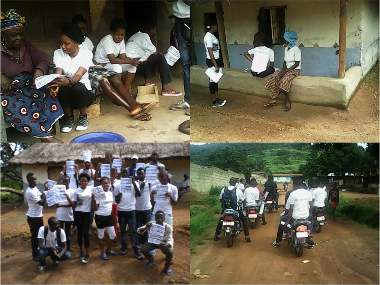 Project1808 Youth Organize to sensitize community on the Ebola virus